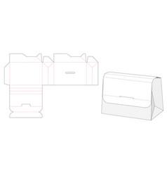 Handbag die cut template vector