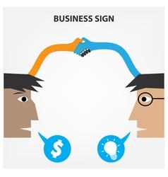 Handshake abstract sign vector