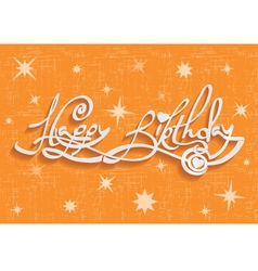 Happy Birthday Hand Lettering Greeting Card vector