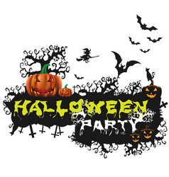 happy halloween poster night background with vector image