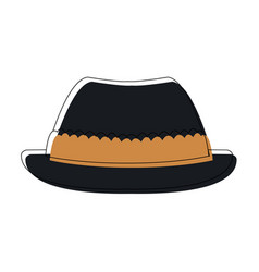 Hat for men in switzerland culture clothes vector
