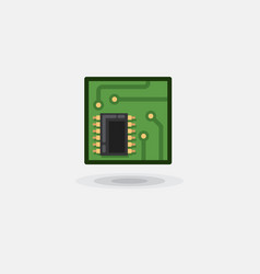icon computer chip electronic board vector image