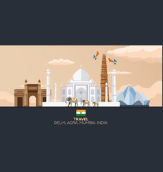 india tourism travelling indian vector image