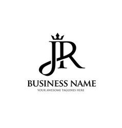 jr crown letter vector image
