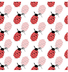 ladybugs seamless background lucky charms vector image