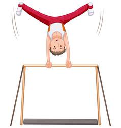 male gymnastics athletes character vector image