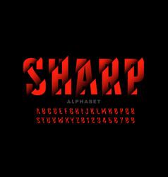 modern font design with sliced effect alphabet vector image