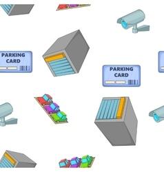 Parking pattern cartoon style vector image