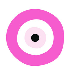 Pink evil eye - symbol of protection vector