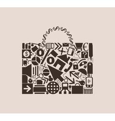 Portfolio of business icons vector