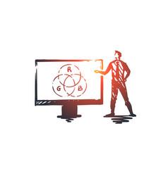 presentation man business board speaker vector image