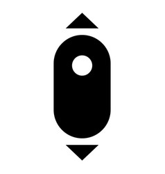 Scroll down computer mouse the black color icon vector