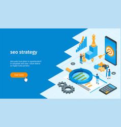 Seo strategy banner 01 vector