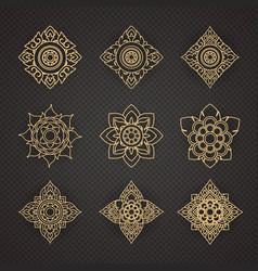 Set thai art design vector