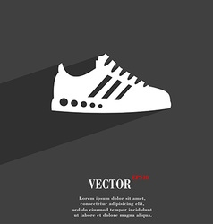 Sneakers symbol Flat modern web design with long vector image
