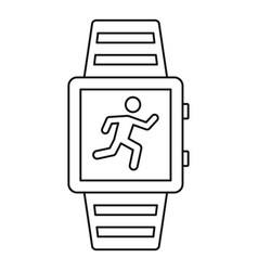 sport smartwatch icon outline style vector image