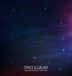 Stars filled space background vector