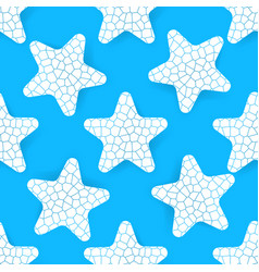 stylised starfish pattern simple flat style vector image