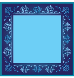 Vintage frames version blue version vector