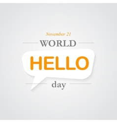 World hello day icon vector