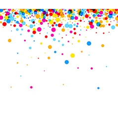 Background with color drops vector image vector image