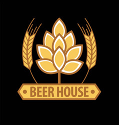 beer house emblem template vector image vector image