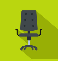 black office chair icon flat style vector image