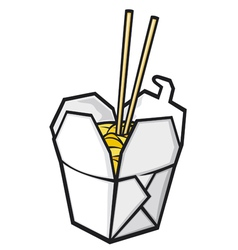 Chinese fast food vector