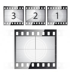film strip countdown vector image