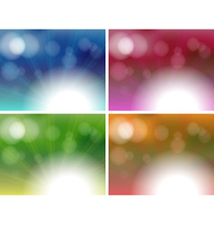 Four unique background templates vector image vector image