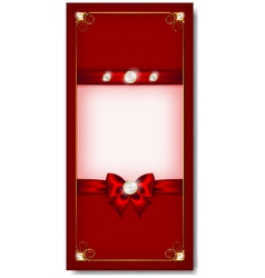 greeting card red vector image