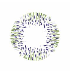 Lavender wreath Watercolor hand drawn floral vector image