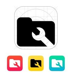 Repair Folder icon vector image