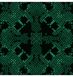 Reptile skin artificial green texture vector image vector image
