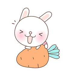 A rabbit on carrot vector image vector image