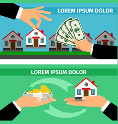 buy house banners collections vector image