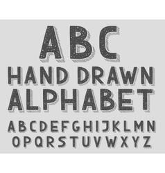 Hand drawn doodle sketch abc alphabet letters vector image