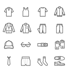 Men Clothing Icons vector image vector image
