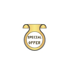 Special Offer computer symbol vector image