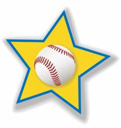 all star baseball or softball vector image