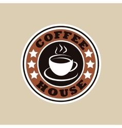 Coffee house logo vector image vector image