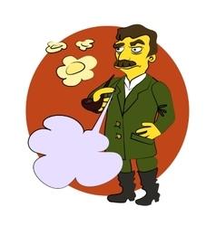 Comic cartoon Stalin vector image vector image