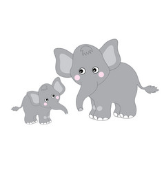 cute cartoon elephants vector image