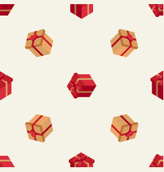 holiday pattern with isometric boxes vector image vector image