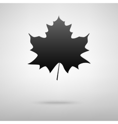 Leaf black icon vector image