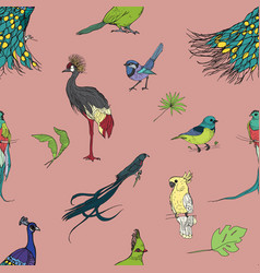 realistic hand drawn colorful seamless pattern vector image