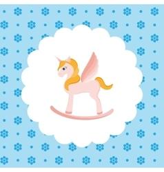 Rocking Horse Unicorn vector image vector image