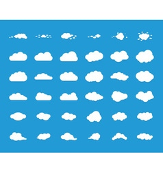 Set of blue sky clouds vector image vector image