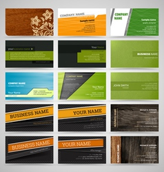 Set of business cards8 vector image vector image