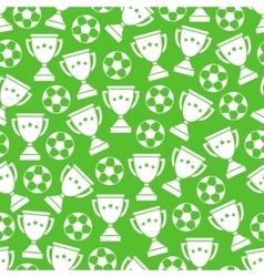 Sport football seamless pattern vector image